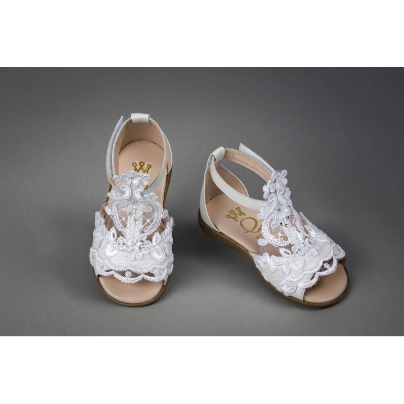 Christening Shoe for Girl - Handmade