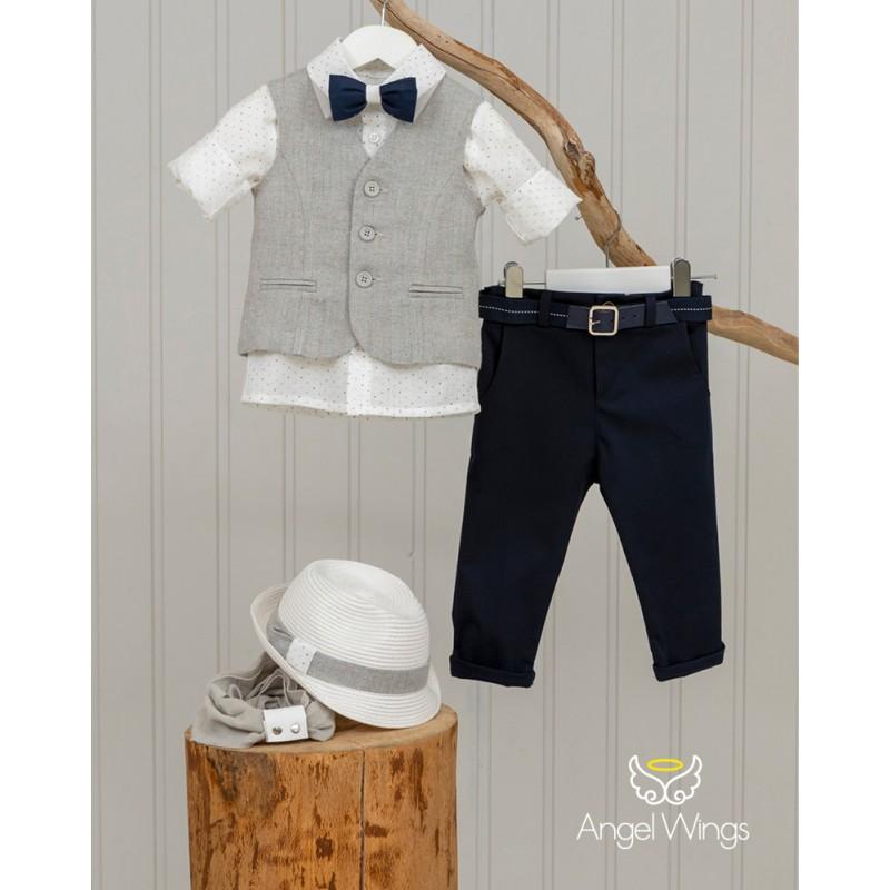 Baptism Clothes for Boy - Eliot blue