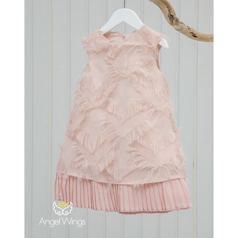 Baptism Clothes for Girl - Vionet Dusty Pink