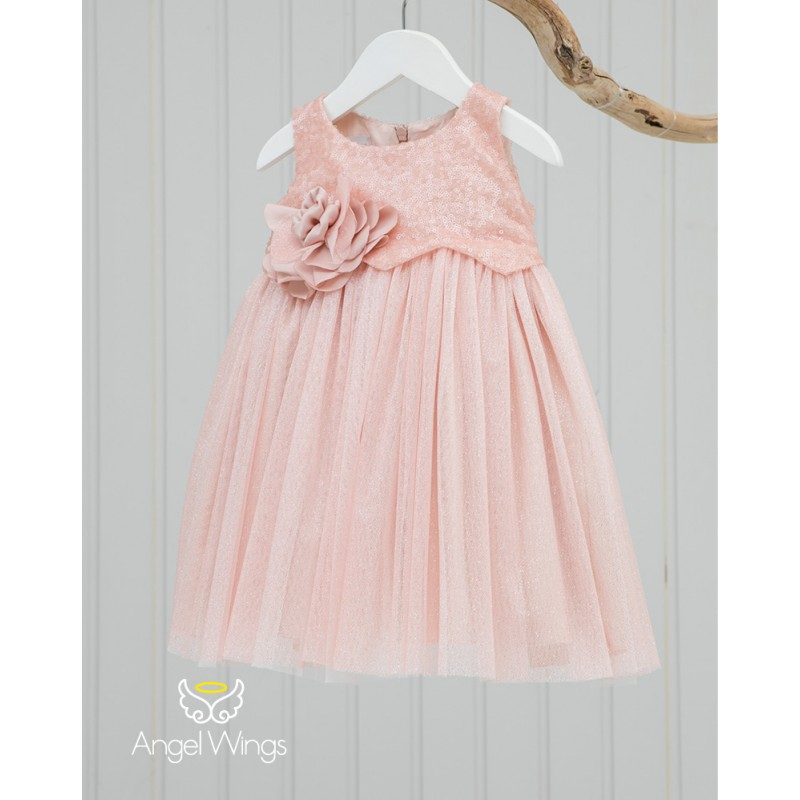 Baptism Clothes for Girl - Crystal Pink
