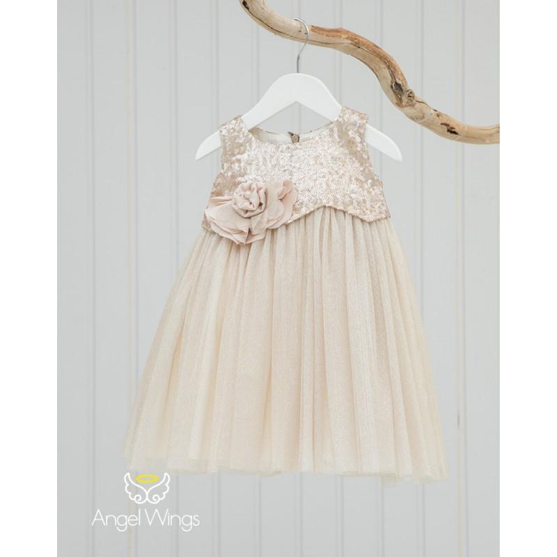 Baptism Clothes for Girl - Crystal Beige