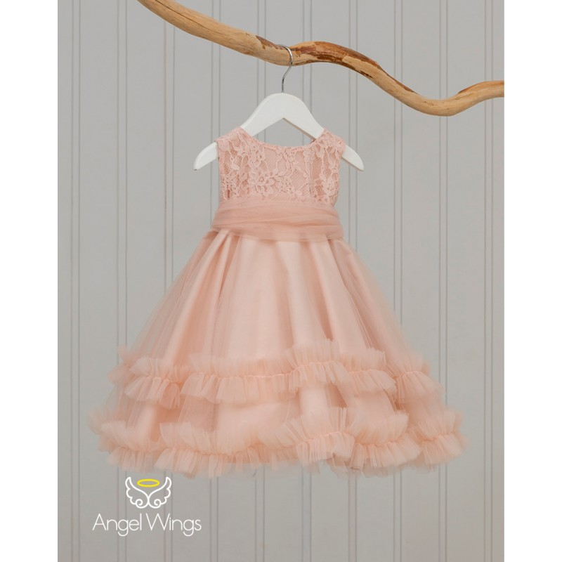 Baptism Clothes for Girl -  Ennie Dusty Pink