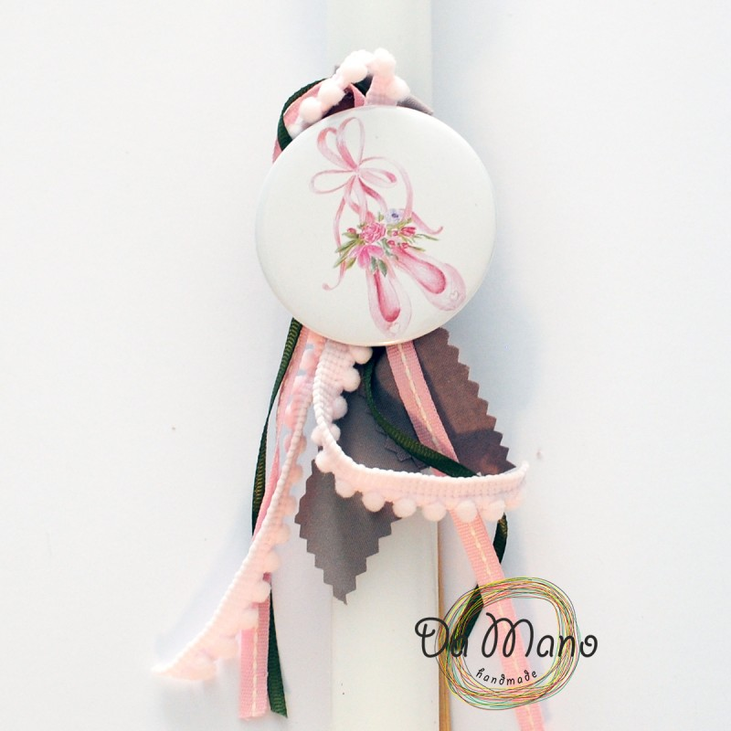 Easter Candle -with badge pin - Ballet