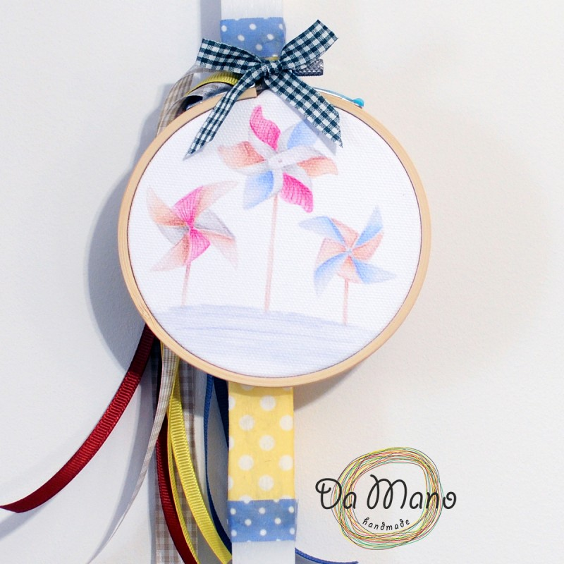 Easter Candle -with badge pin - Windmill