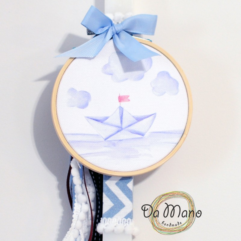 Easter Candle -with embroidery frame - Paper Boat
