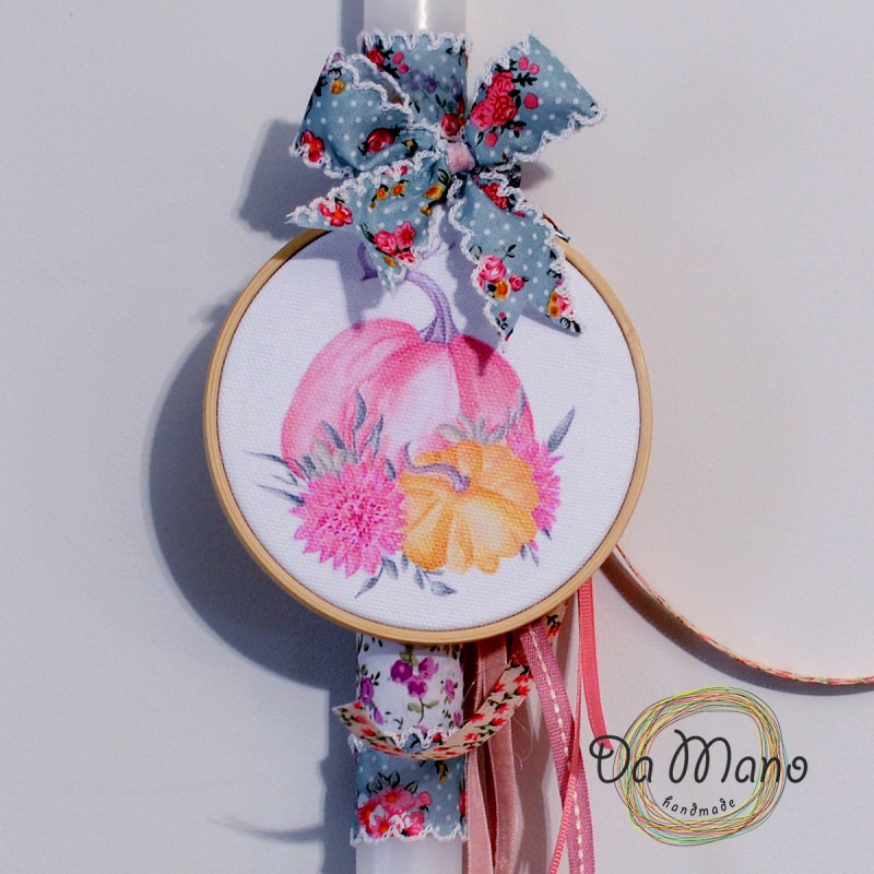 Easter Candle -with embroidery frame -  Bunny