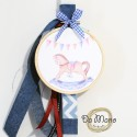 Easter Candle -with embroidery frame - Rocking Horse