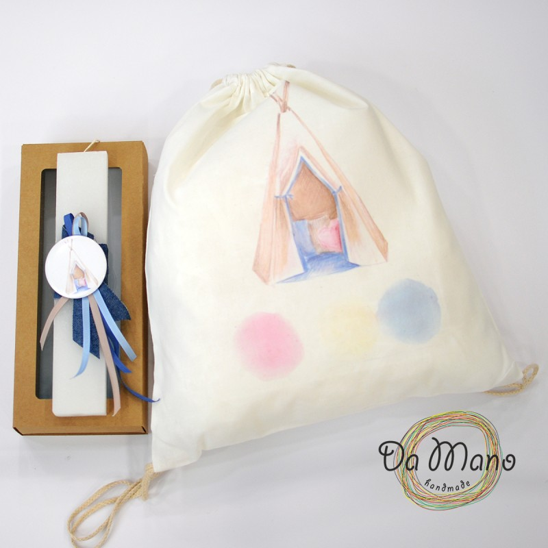 Easter Candle -with badge pin - Tent