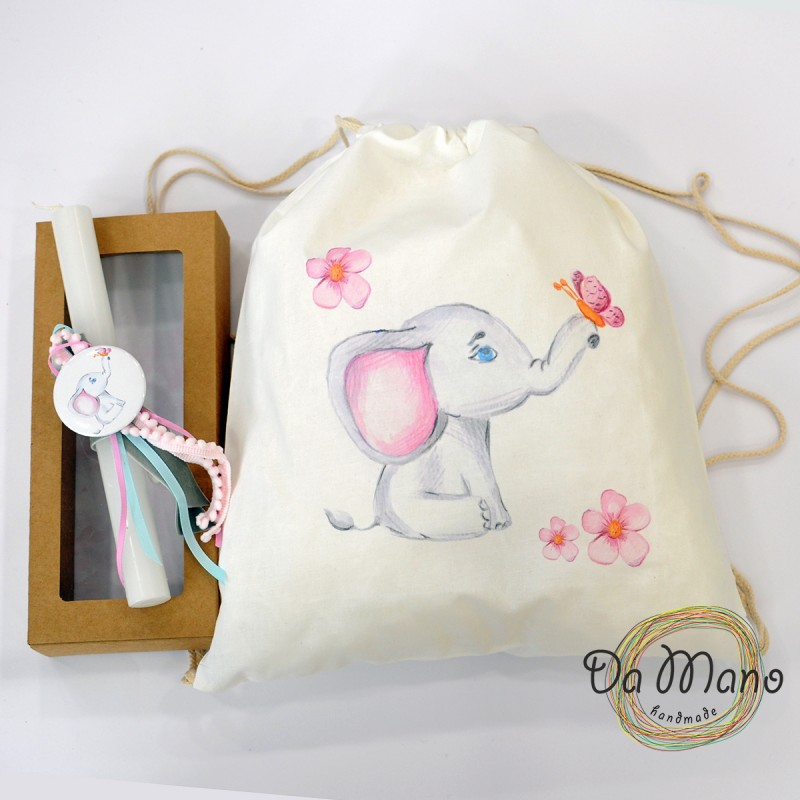 Easter Candle -with badge pin - Little Elephant 2